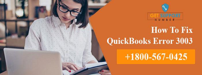 Method To Troubleshoot QuickBooks Error Code 3003