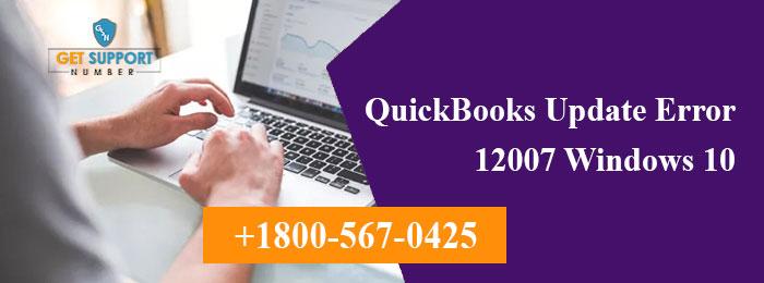 QuickBooks Update Error 12007 Windows 10