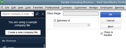 How To Create Classes In QuickBooks One By One?