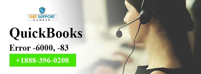 QuickBooks Error -6000, -83 : Resolve Company File Issues - +1888