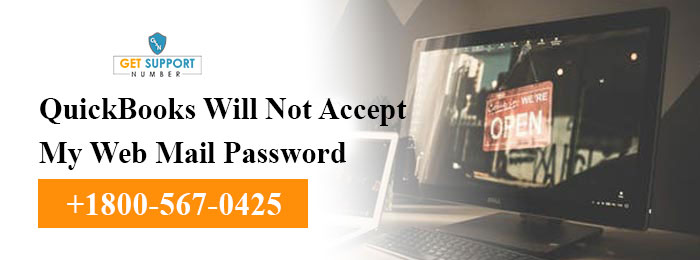 QuickBooks Will Not Accept My Web Mail Password