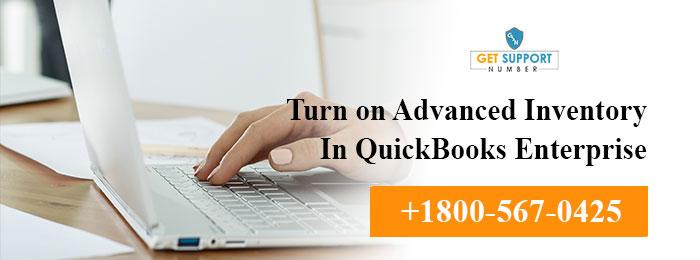 Turn on Advanced Inventory In QuickBooks Enterprise