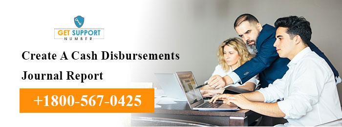 Create A Cash Disbursements Journal Report